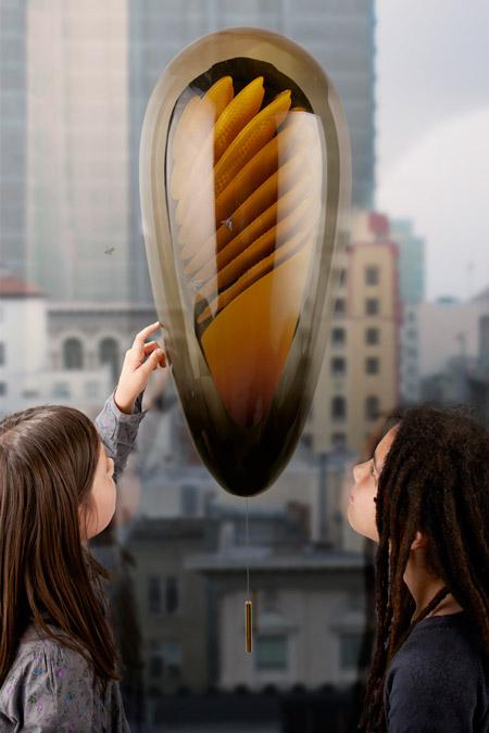 Am Küchenfenster Bienen beobachten (© Philips – Microbial Home design concept)