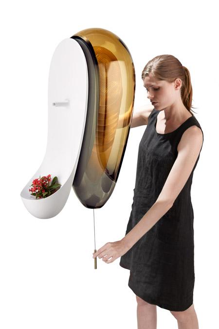 Am Küchenfenster Honig ernten (© Philips – Microbial Home design concept)