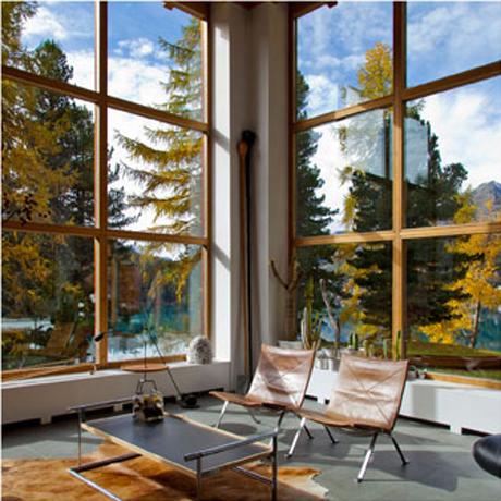 Corina Bezzola, Aussicht Privathaus Dimlej, St. Moritz, 2012