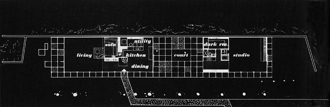 Eames House Blueprint